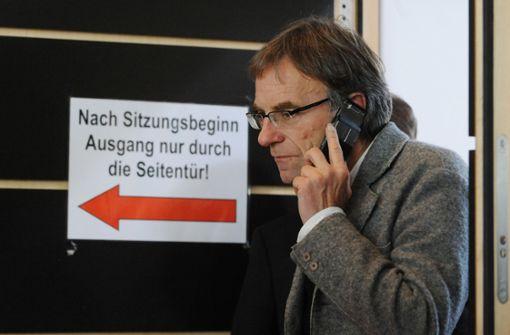 Werner Wölfle hat sich krank gemeldet
