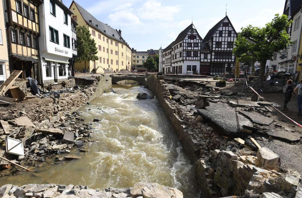 Die Flut-Katastrophe hat Nordrhein-Westfalen schwer getroffen. Foto: dpa/Roberto Pfeil