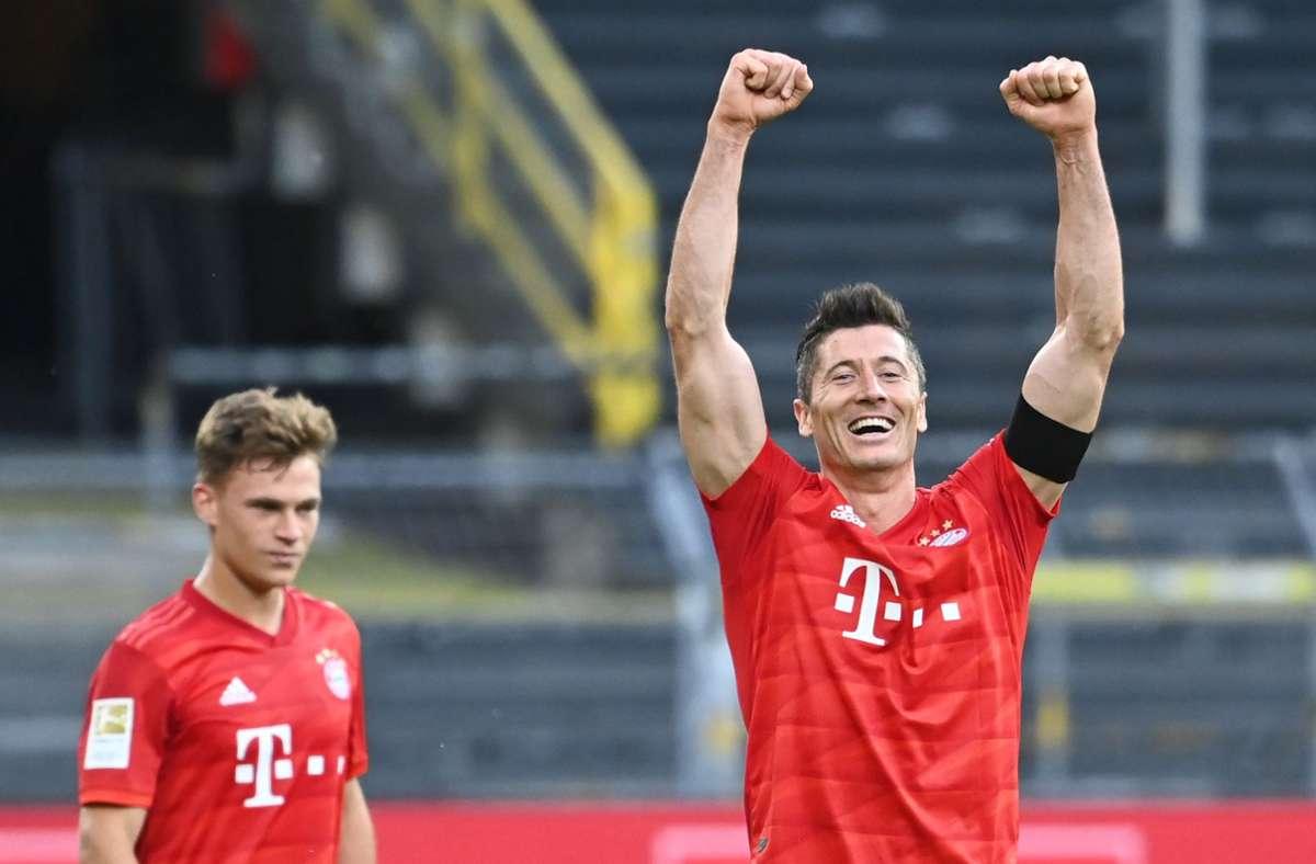 Bald haben die Bayern wohl  richtig was zu feiern – den Titel. Foto: dpa/Federico Gambarini