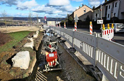 Der Radweg von Esslingen nach Ostfildern nimmt Gestalt an