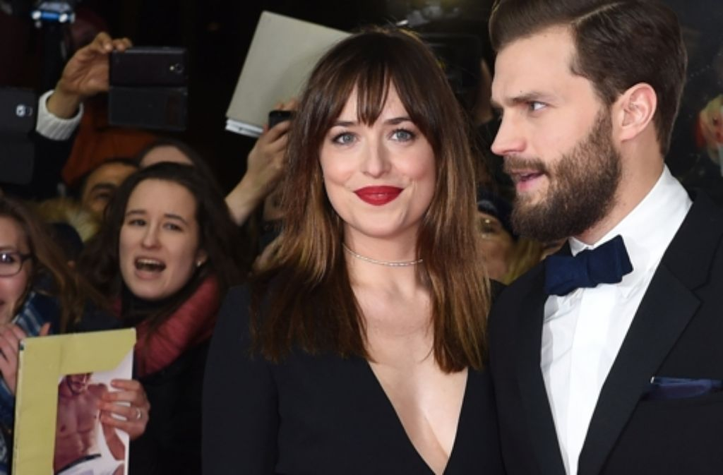 Fifty Shades of Grey-Stars Dakota Johnson und Jamie Dornan sorgen für klopfende Herzen auf der Berlinale. Foto: dpa