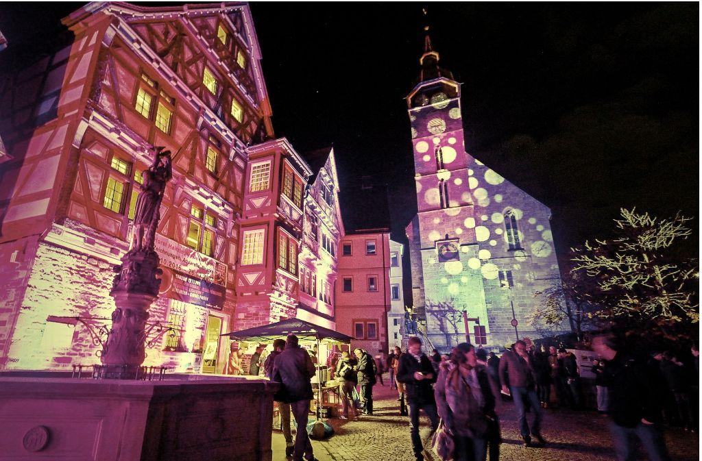 So sah der Böblinger Marktplatz bei der vergangenen Langen Nacht aus. Foto: