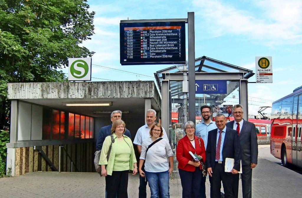 Die Stadt hat die Tafeln in Empfang genommen. Foto: VVS