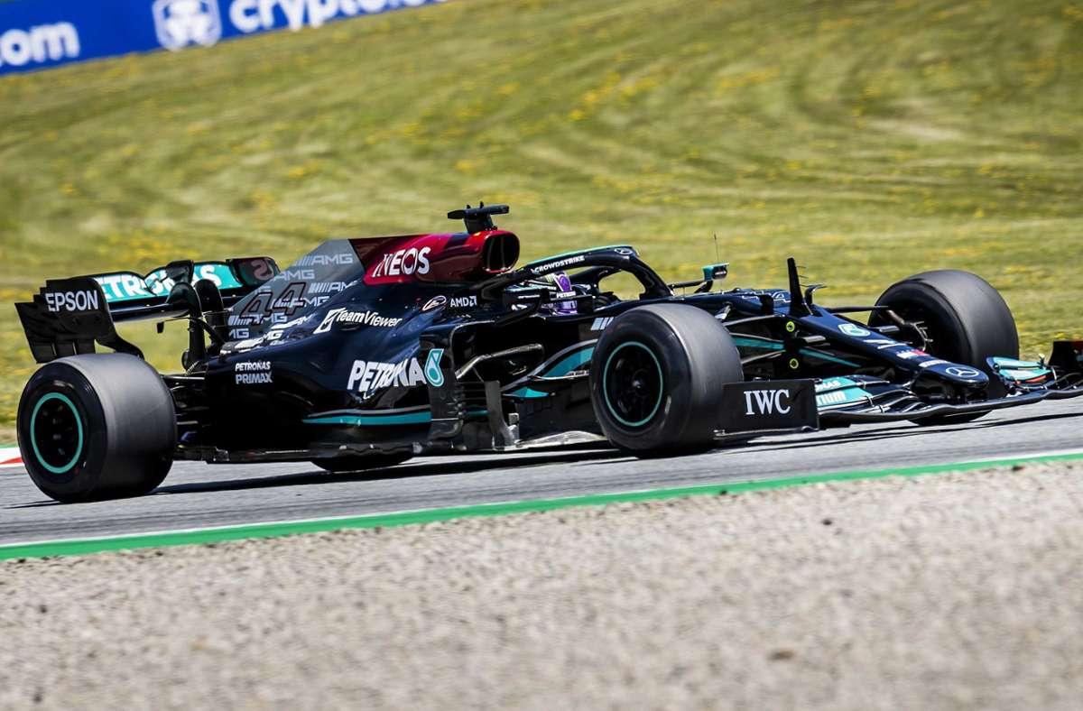 Lewis Hamilton landete bei der Qualifikation nur auf Platz vier. Foto: dpa/Remko De Waal