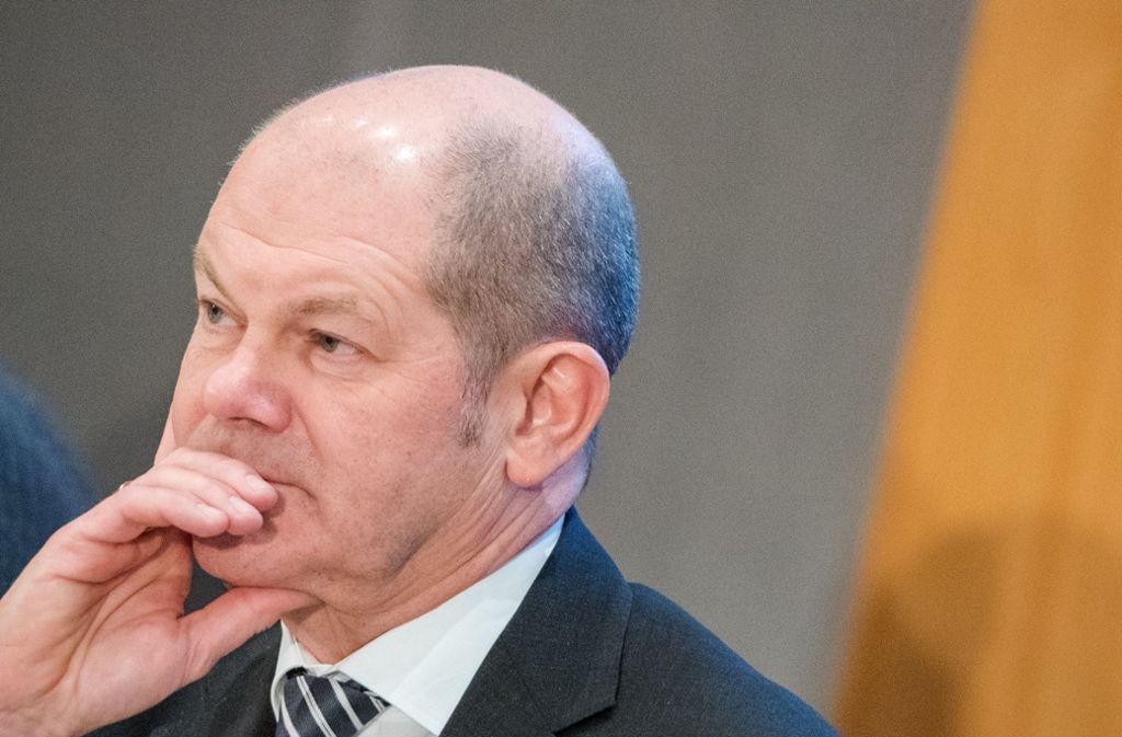 Finanzminister Olaf Scholz (SPD) gibt sich in der Europapolitik bedeckt. Foto: dpa