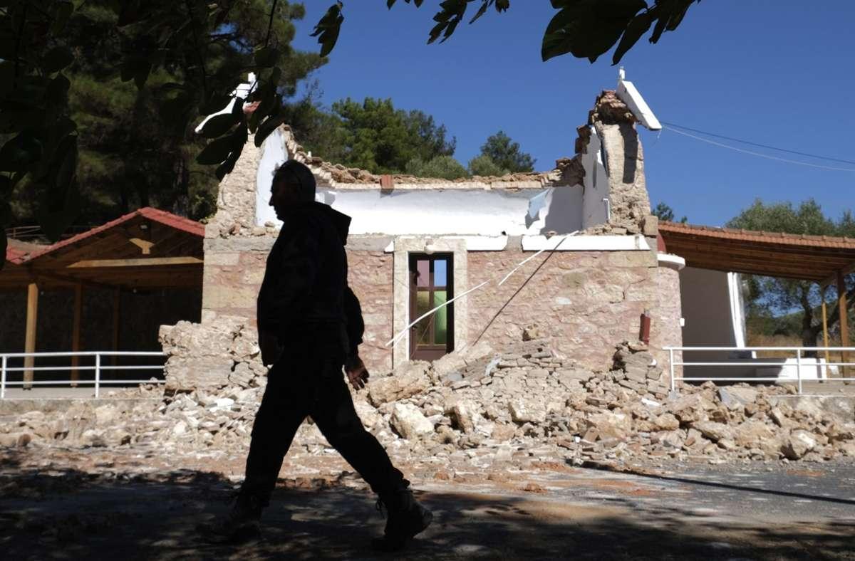 Ein schweres Erdbeben hat auf Kreta große Schäden angerichtet. Foto: dpa/Harry Nakos
