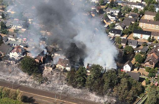 Experten schließen Funkenflug als Brandursache aus
