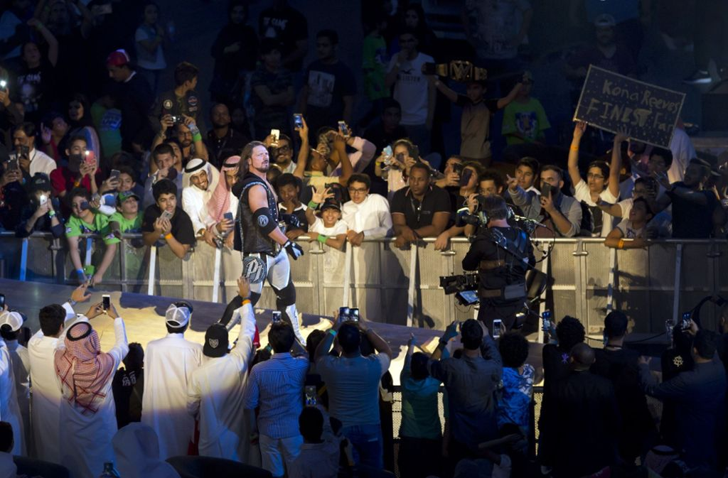 Ein Wrestling-Event in Saudi-Arabien. Foto: AP