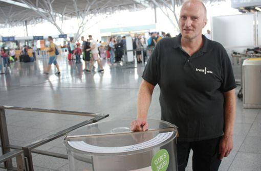 Pfandflaschen-Aktion am Flughafen ist ein voller Erfolg