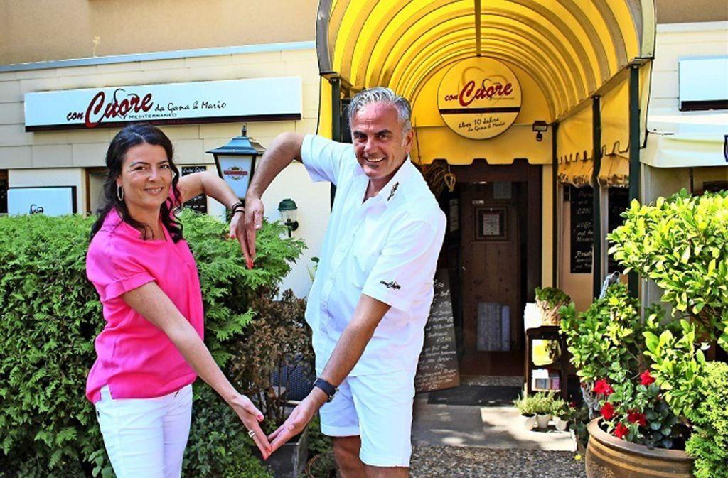 Die beiden Gastronomen geben ihr Restaurant auf, das Con Cuore. Foto: Caroline Holowiecki