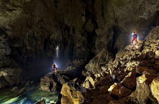 Durchbruch und neue Probleme in der Blauhöhle