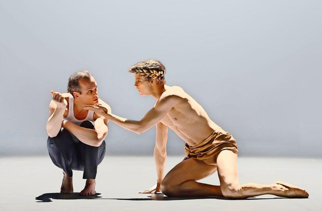 """Ausgezeichnet: Matthias Klink (links, mit David Moore) in """"Tod in Venedig"""" Foto: Oper Stuttgart"""