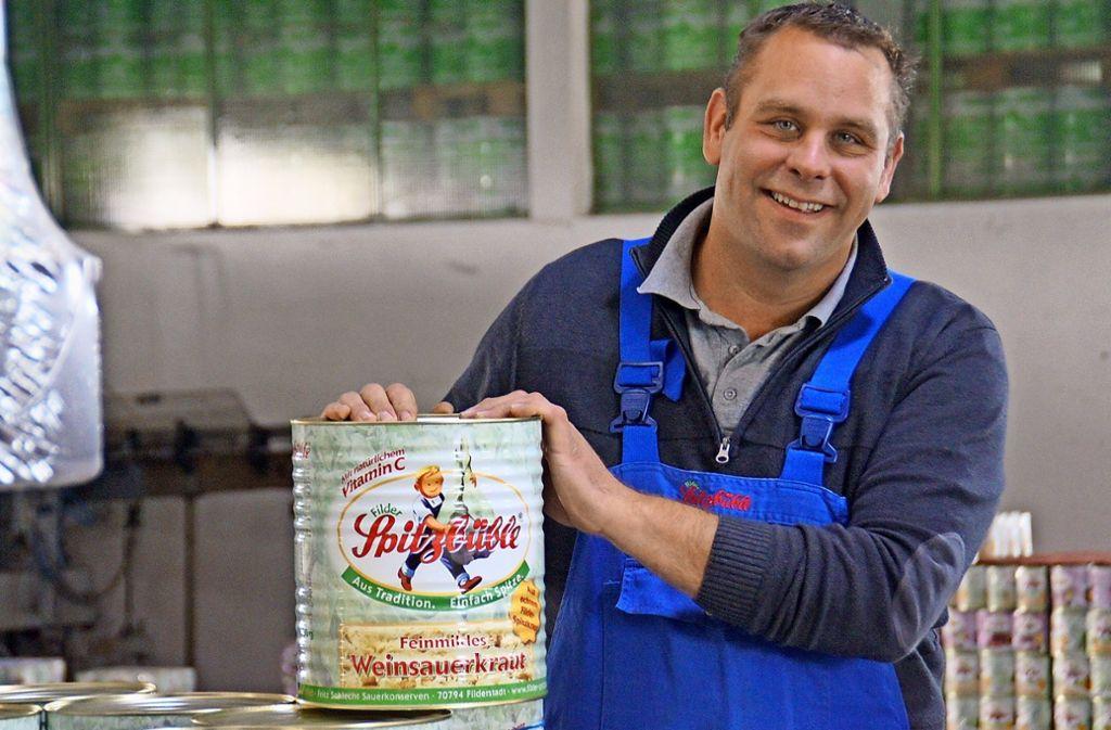 Armin Schlecht leitet die Sauerkonservenfabrik Fritz Schlecht in vierter Generation. Foto: Leonie Schüler
