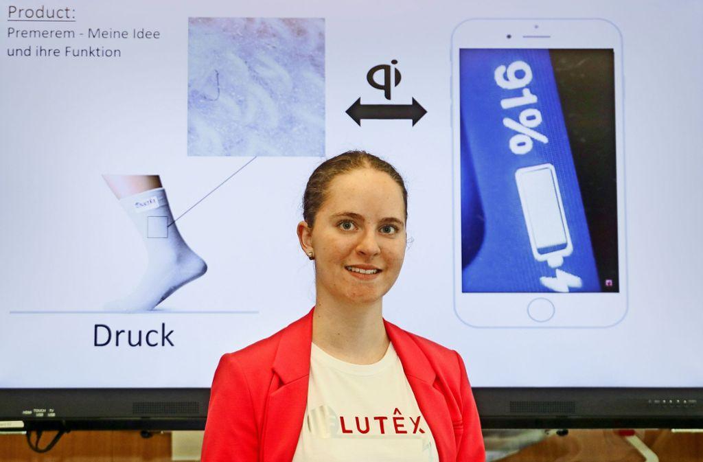 """Lara Lorenz spekuliert beim Wettbewerb """"Jugend gründet"""" auf eine Reise ins  Gründermekka Silicon Valley. Foto: factum/Granville"""