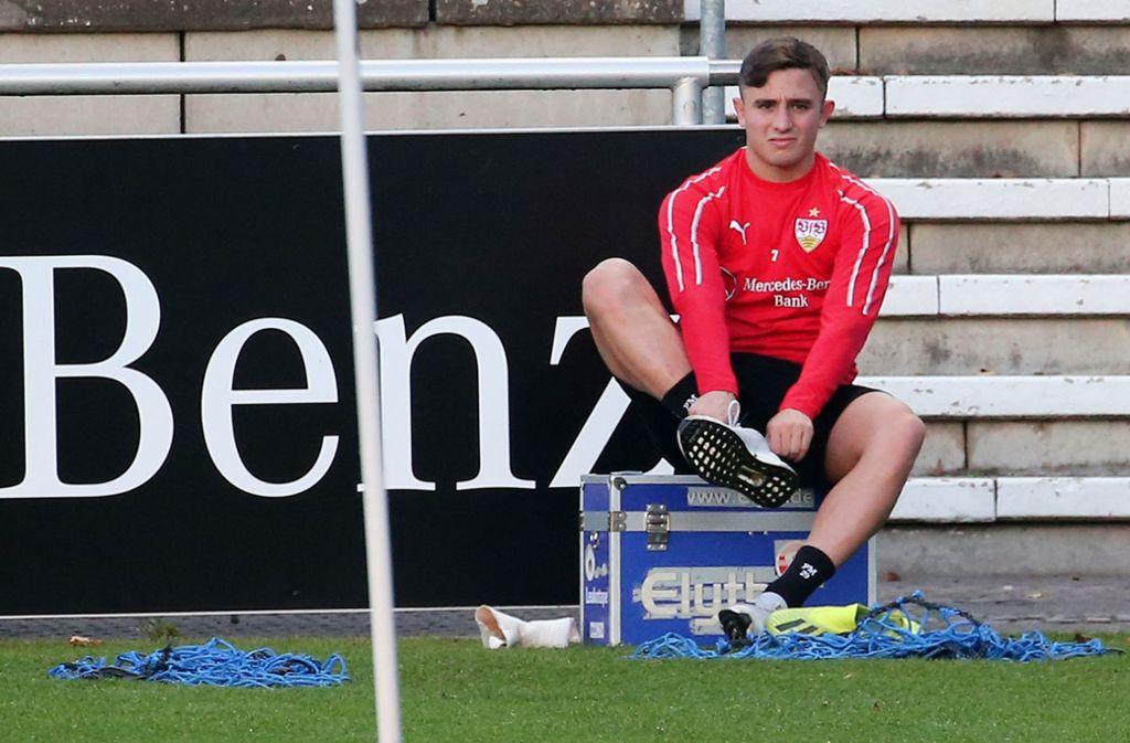 Pablo Maffeo kam im Sommer als damaliger Rekordeinkauf zum VfB Stuttgart. Foto: Baumann