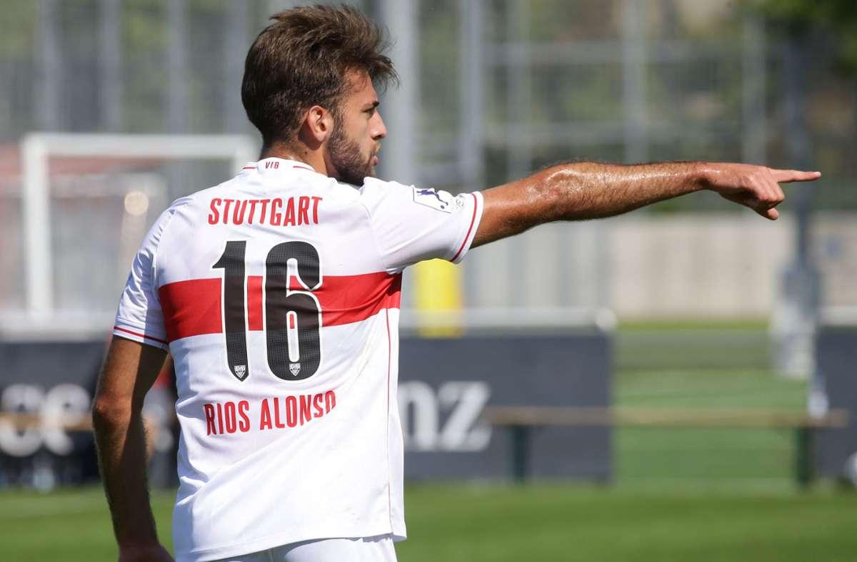 In Richtung Westen geht es für VfB-Verteidiger José-Enrique Rios Alonso. Foto: Baumann