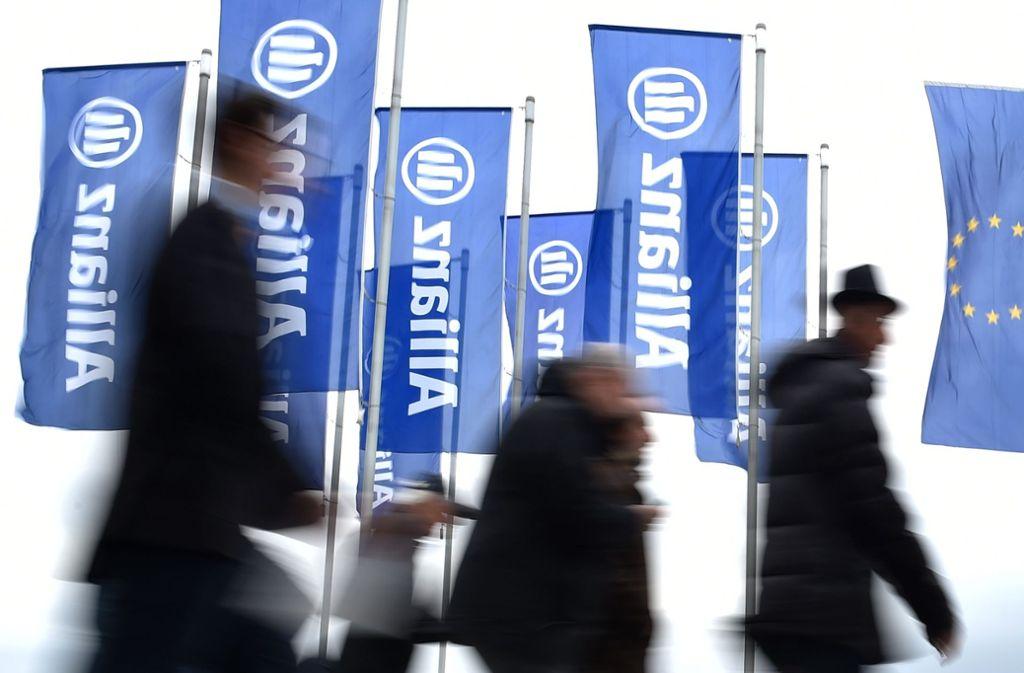 Die Allianz marschiert mit dem neuen Produkt voraus – Insider rechnen damit, dass die Branche das Modell des Rentenversicherungsproduktes kopieren wird. Foto: AFP