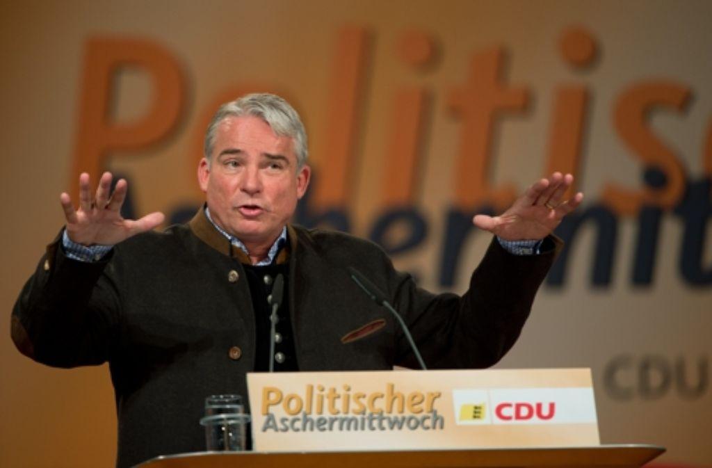 Thomas Strobl (hier bei einem Auftritt im Februar) Foto: dpa