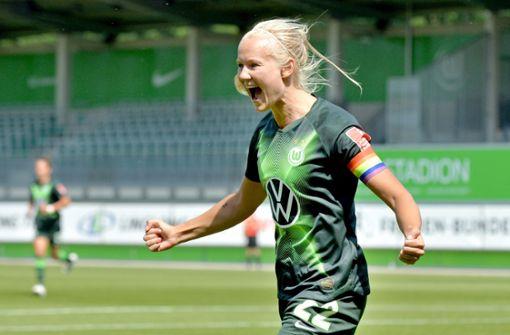Wolfsburger Fußballerinnen feiern sechste Meisterschaft