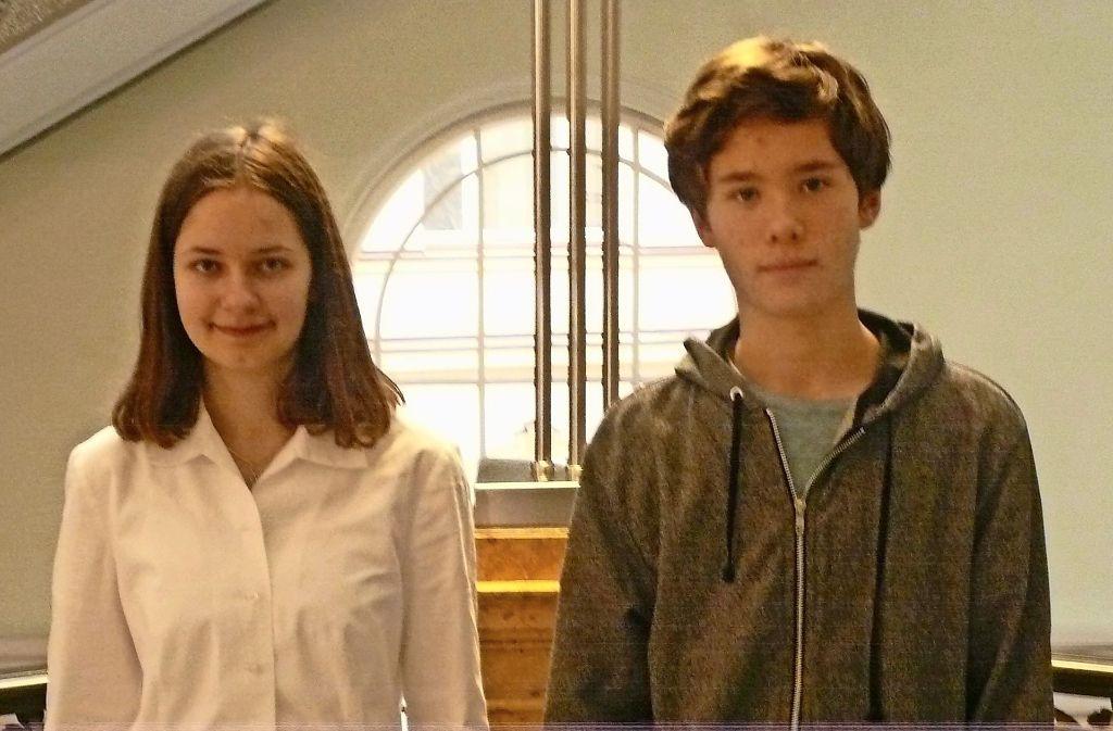 Pascale Andraczi und Phileas Loh durften ihr Können zeigen. Foto: C. Kutzer