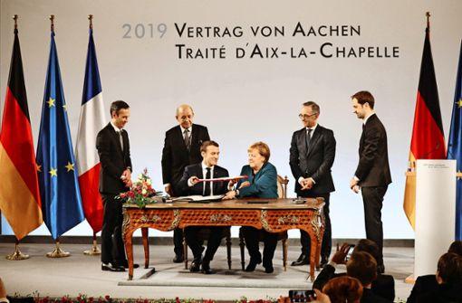 Pathos beherrscht Macron besser als Merkel