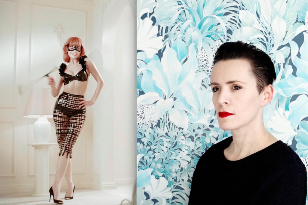 Monica Menez (rechts) bringt mit der Premiere von ihrem Film Bello (Ausschnitt links) auf dem Mode-Event Haute Cueture ein bisschen Hollywood-Glam nach Stuttgart. Foto: Monica Menez