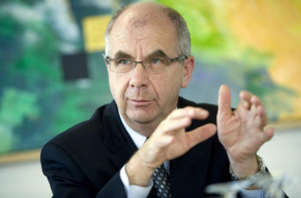 Polizeipräsident Siegfried Stumpf: Zu ganz großen Teilen friedlicher Protest. Foto: Steinert
