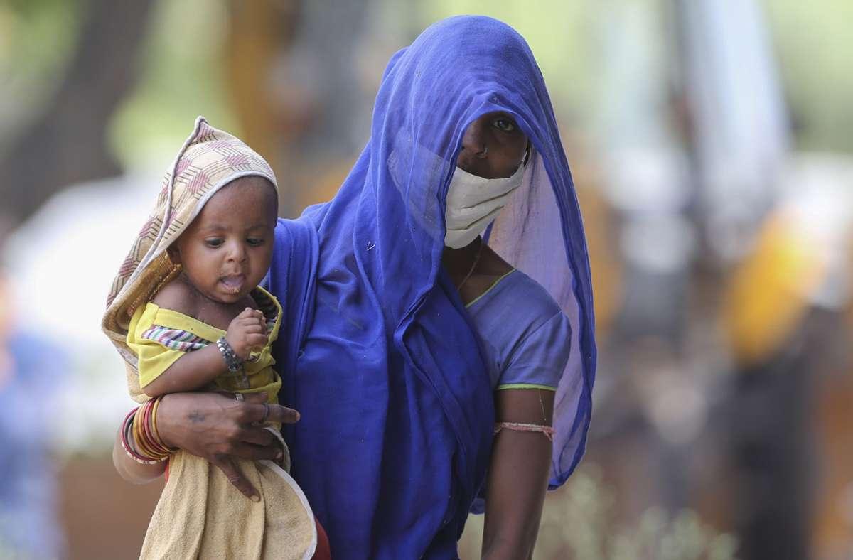 Allein in Indien zählten die Autoren im vergangenen Jahr mehr als 116000 Todesfälle  durch Luftverschmutzung unter Säuglingen. Foto: Mahesh Kumar A/AP/dpa