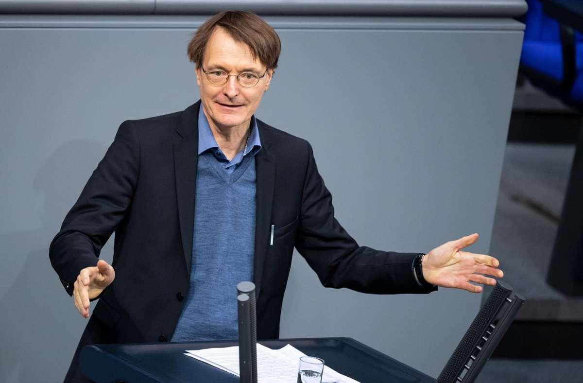 Karl Lauterbach fordert mehr Impfungen gegen Grippe. Foto: dpa/Bernd von Jutrczenka