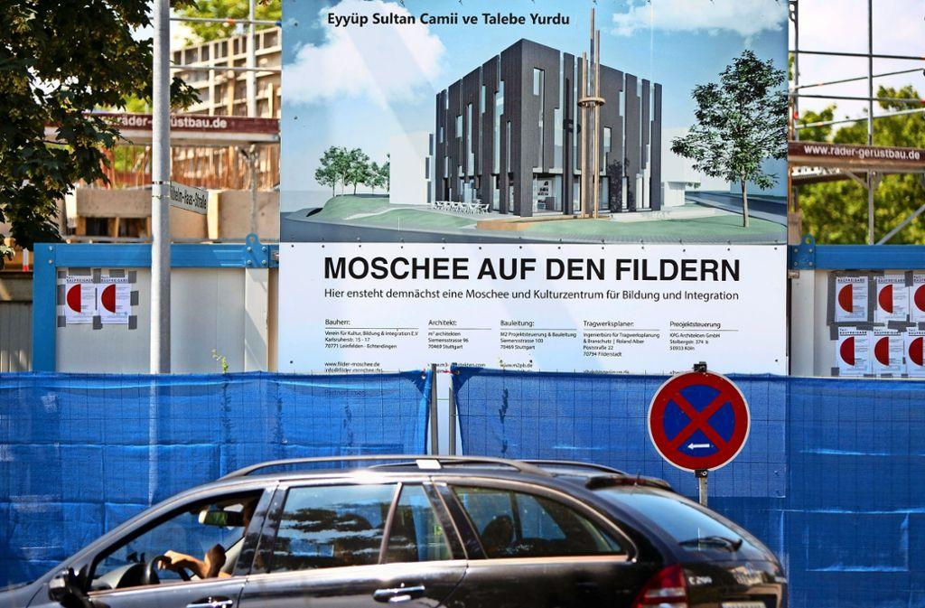 Für die  örtlichen Muslime entsteht in  Oberaichen derzeit eine Moschee. Foto: Michael Steinert