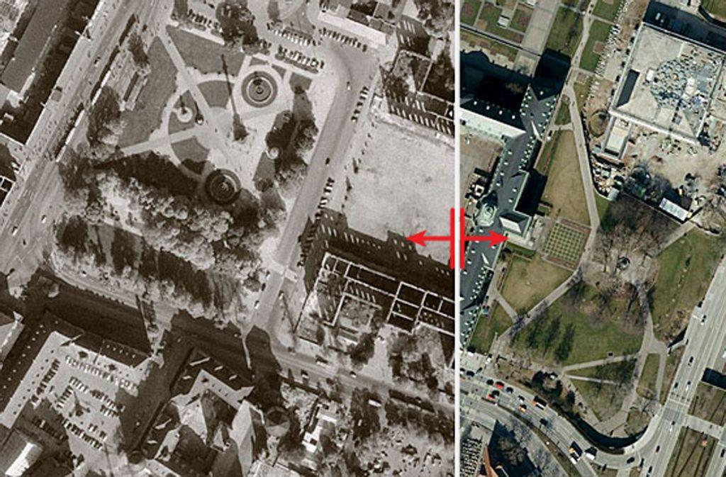 Die alte Messe am Killesberg – und wie sich das Quartier seither verändert hat. Das Gelände ist eines von 37 Motiven im neuen Luftbilder-Buch. Weitere Motive zeigt die Bilderstrecke. Foto: Stadtmessungsamt Stuttgart