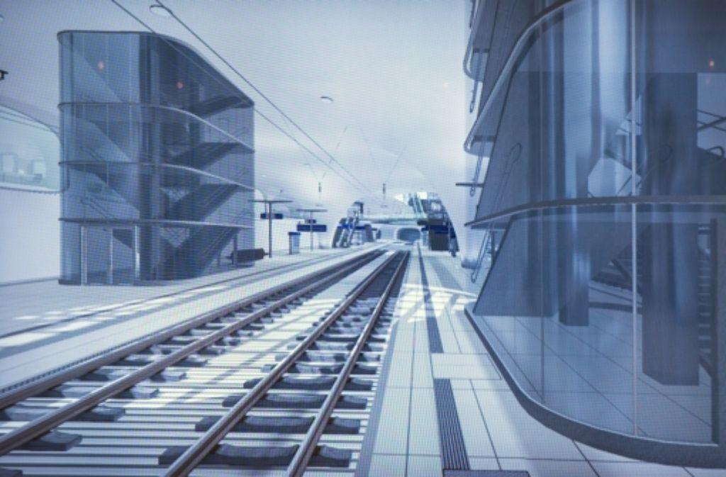Die Fluchttreppen könnten ans Bahnsteigende verschoben werden. Foto: Achim Zweygarth