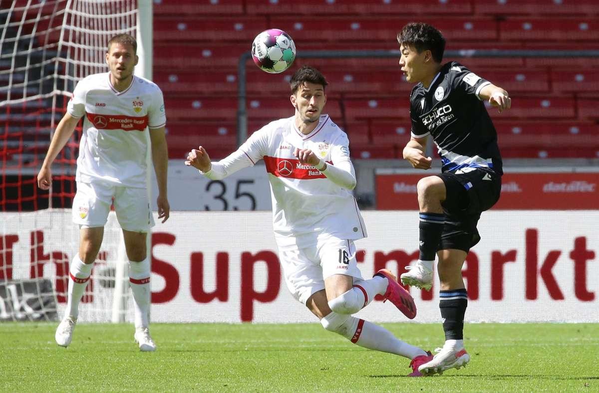 Der VfB Stuttgart hat gegen Arminia Bielefeld 0:2 verloren. Unsere Redaktion hat die Leistungen der VfB-Profis wie folgt bewertet. Foto: Pressefoto Baumann/Hansjürgen Britsch