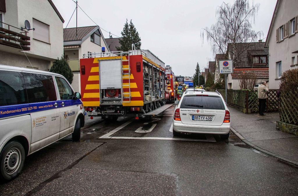 In Leonberg-Eltingen hatte ein Bagger eine Gasleitung beschädigt. Foto: SDMG/Dettenmeyer