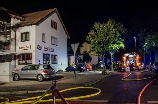 Brand in Gaststätte löst Großeinsatz aus