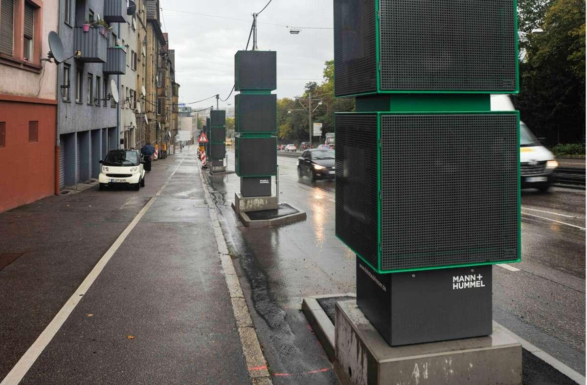 Auch Entlang der Pragstraße wird die Luft gefiltert, um die Schadstoffwerte zu senken. Foto: Lichtgut/Max Kovalenko