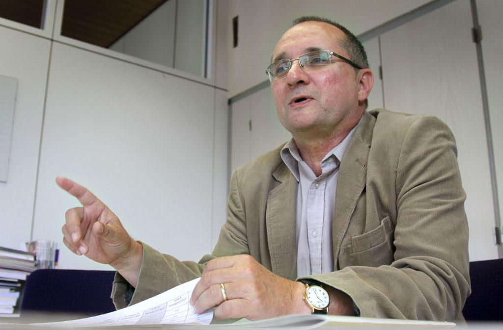 Jörg Fröscher ist Leiter einer Gemeinschaftsschule und Gewerkschafter. Foto: /Simon Granville