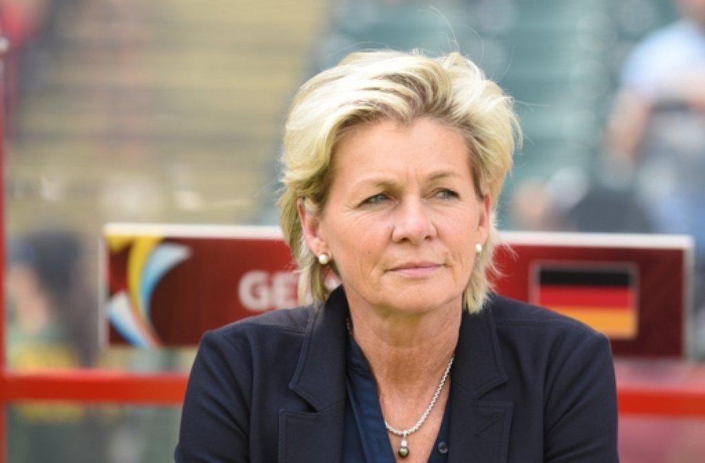 Die Enttäuschung steht ihr ins Gesicht geschrieben: Bundestrainerin Silvia Neid. Foto: dpa