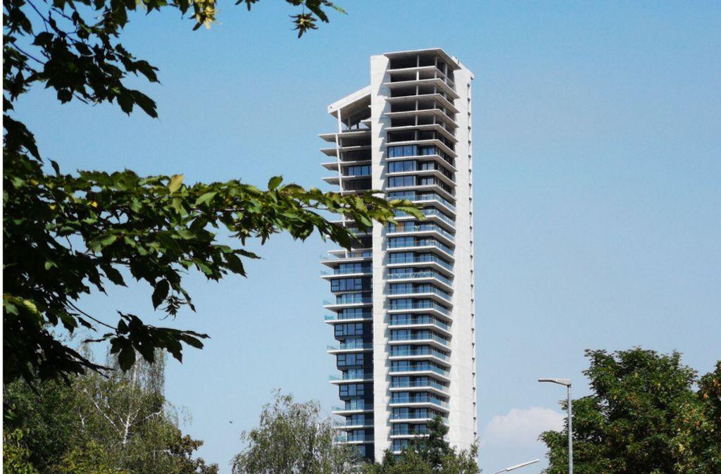 Der halb fertige Gewa-Tower in Fellbach hat einen Käufer gefunden. Foto: Patricia Sigerist