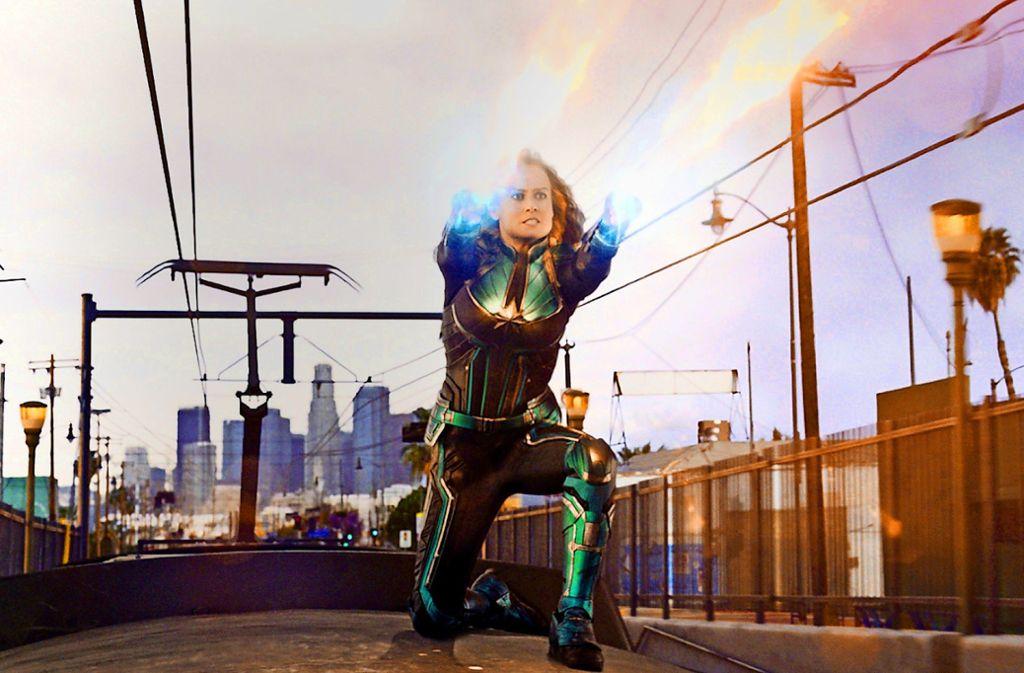 Ihre Fähigkeiten sind gefragt: Brie Larson als Superheldin Captain Marvel Foto: Verleih