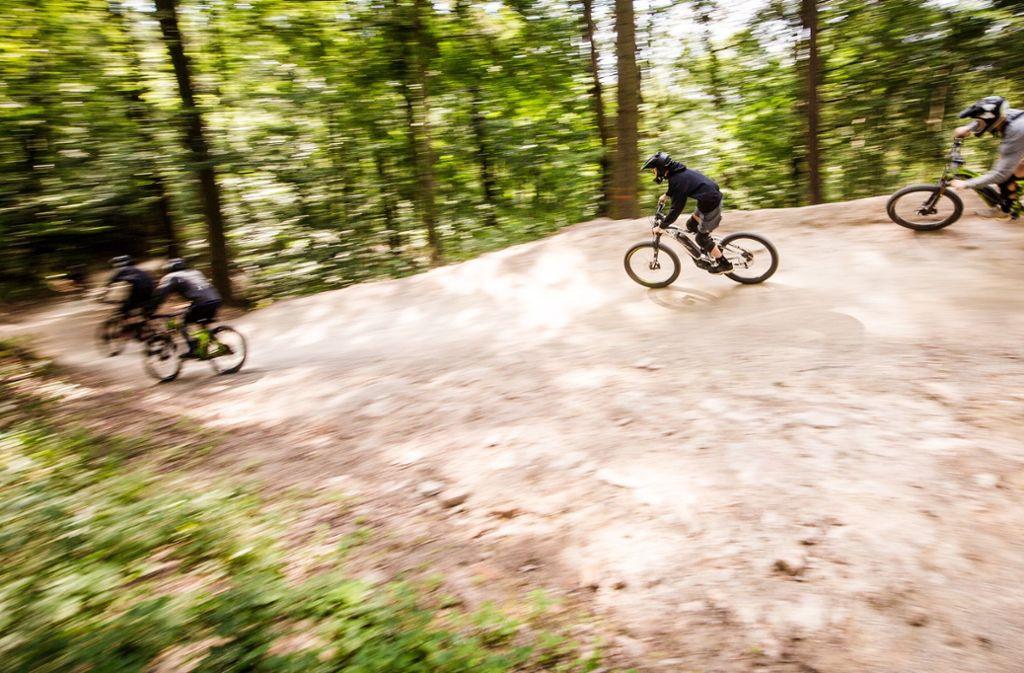 Wer in diesen Tagen auf dem Woodpecker-Trail unterwegs ist, widersetzt sich dem Verbot der Stadt Stuttgart. Foto: Lichtgut/Christoph Schmidt