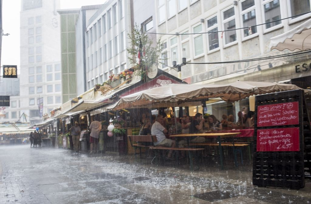 Unwetterwarnung Stuttgart
