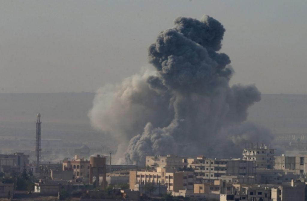 Die IS-Kämpfer in Kobane werden weiter zurückgedrängt.  Foto: EPA