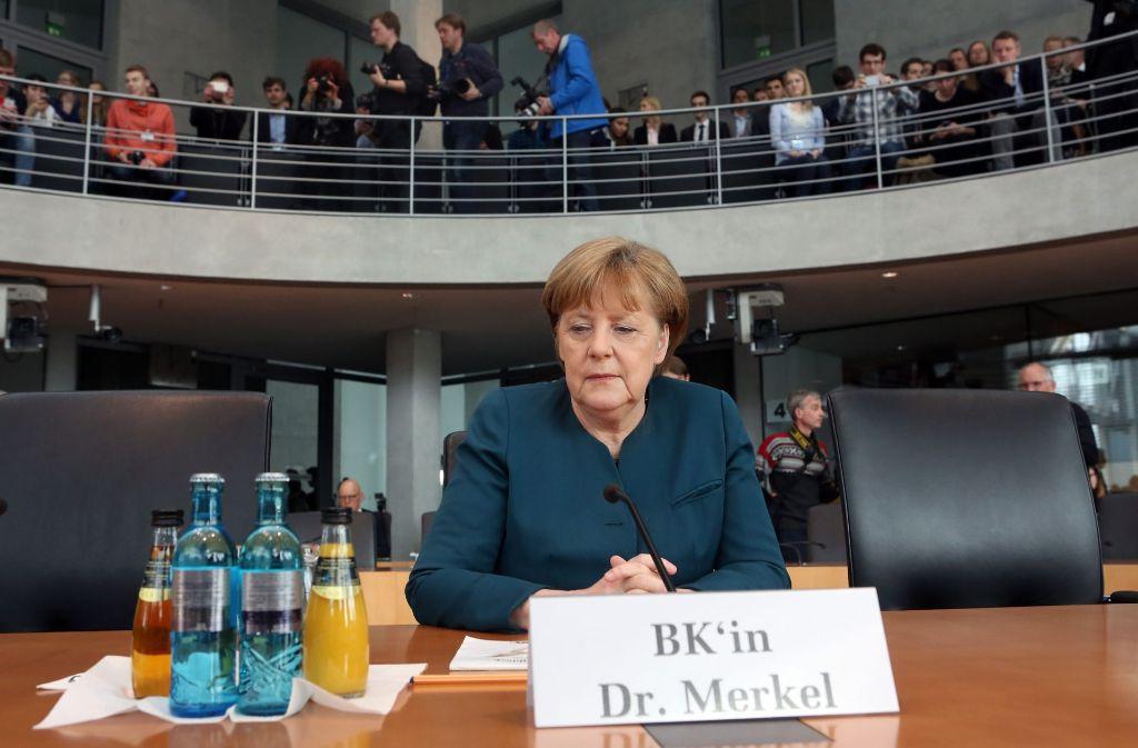 Die Kanzlerin hat vor dem U-Ausschuss des Bundestages zum Abgas-Skandal bei VW ausgesagt. Foto: Getty Images