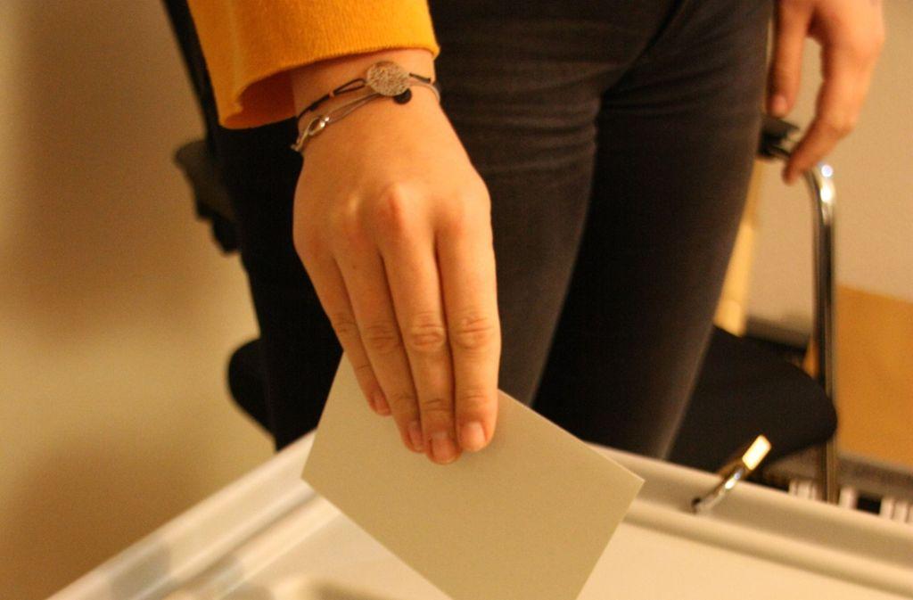 Deutlich mehr Menschen als vor vier Jahren sind am Sonntag in Leinfelden-Echterdingen zur Wahl gegangen. Foto: Kanter