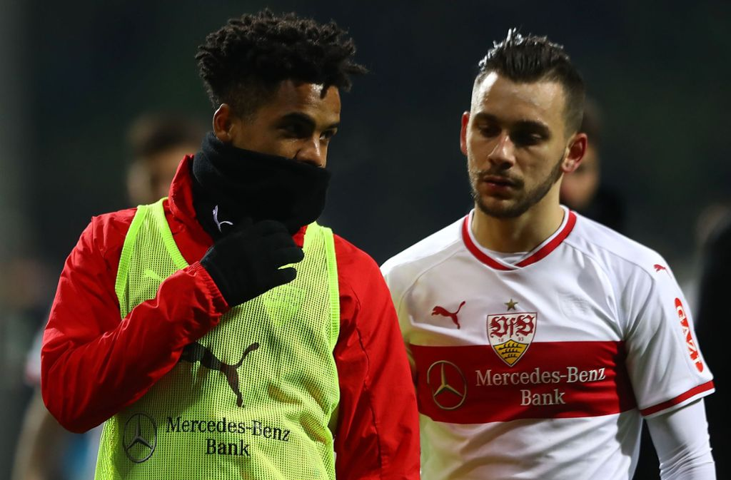 Daniel Didavi (links) vom VfB Stuttgart hofft auf einen Einsatz bei Borussia Dortmund. Foto: Bongarts