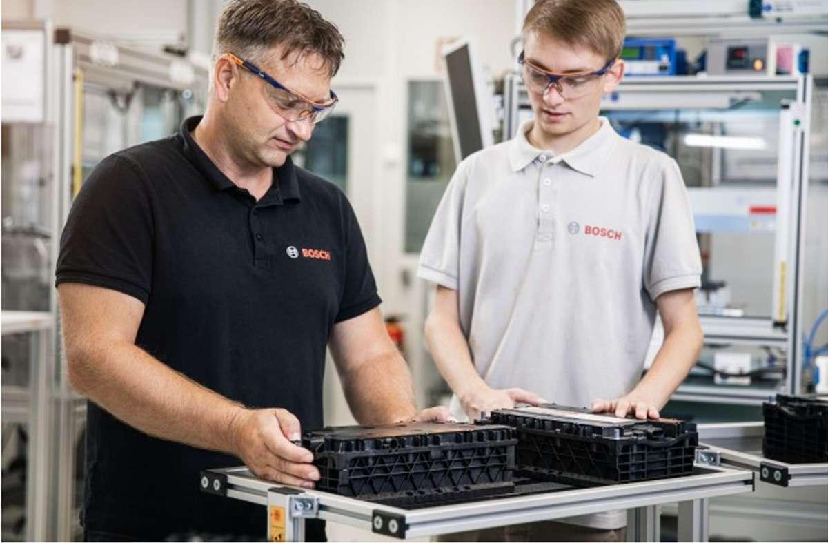 In Eisenach fertigt Bosch  künftig mit 120 Mitarbeiterinnen und Mitarbeitern  Batterien. Foto: /Bosch