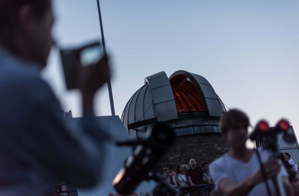 An der Sternwarte auf der Uhlandshöhe beobachteten bereits viele Menschen den Blutmond.  Foto: Lichtgut/Max Kovalenko