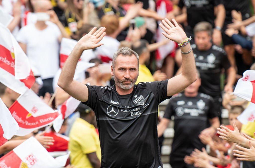 Der VfB-Trainer heißt bekanntlich Tim Walter – aber wie heißen die anderen 17 Zweitligatrainer? Foto: dpa