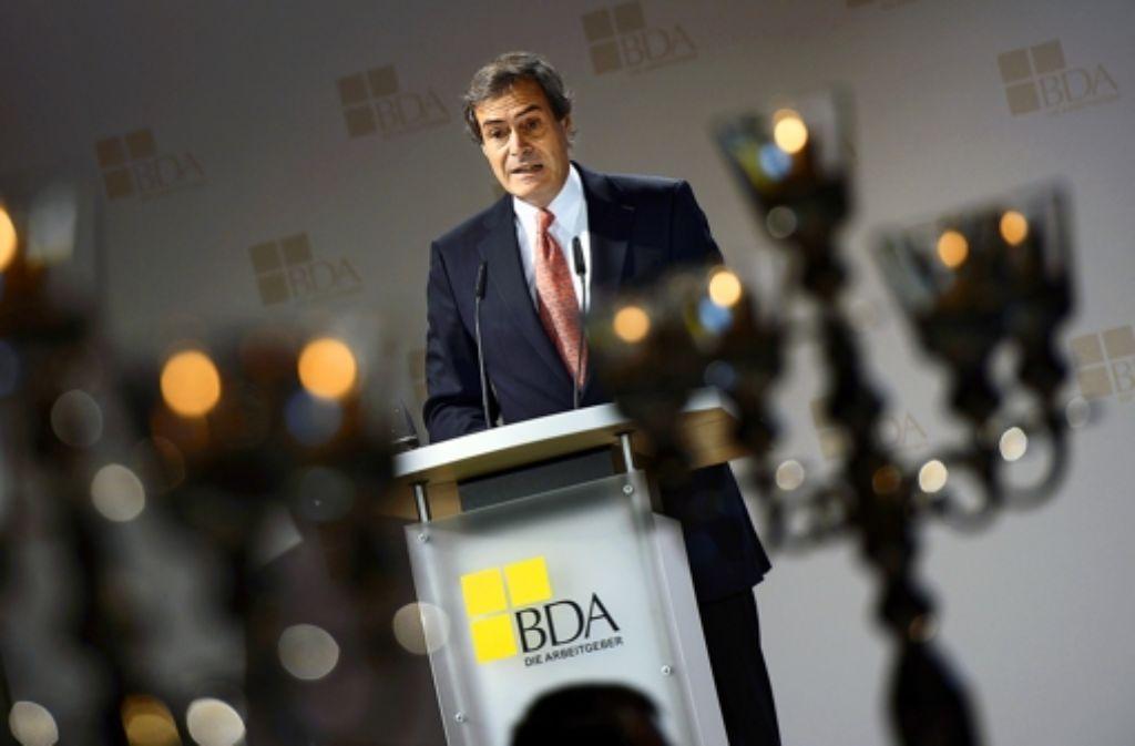 Ingo Kramer zeigt sich gleich zu Beginn seiner BDA-Präsidentschaft kämpferisch. Foto: Getty